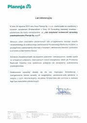 List referencyjny - Plannja